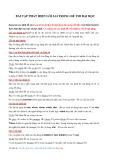 Bài tập phát hiện lỗi sai trong đề thi Đại học