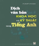 Luyện tập dịch văn bản khoa học và kỹ thuật sang tiếng Anh: Phần 1