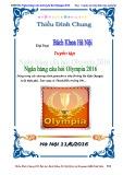 Sổ tay Ngân hàng câu hỏi Olympia năm 2016