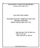 Sáng kiến kinh nghiệm: Tích hợp giáo dục về biển đảo Việt Nam cho học sinh THPT trong giờ dạy học Ngữ văn