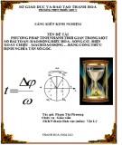 Sáng kiến kinh nghiệm: Phương pháp tính nhanh thời gian trong một số bài toán - Dao động điều hòa sóng cơ điện xoay chiều mạch dao động bằng công thức định nghĩa tần số góc