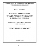 PhD thesis summary: Financial structure of textile garment enterprises in the central region in the integration process