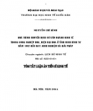 Tóm tắt Luận án Tiến sĩ Kinh tế: Quá trình chuyển dịch cơ cấu ngành kinh tế trong công nghiệp hóa, hiện đại hóa ở tỉnh Ninh Bình từ năm 1992 đến nay: Kinh nghiệm và Giải pháp