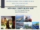 Bài giảng môn học Thiết bị dầu khí: Chương 1 - ThS. Nguyễn Tiến Đạt