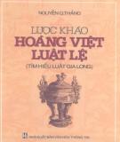 Ebook Lược khảo Hoàng Việt luật lệ (Tìm hiểu luật Gia Long): Phần 2