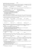 Trung bộ đề ôn thi Đại học, Cao đẳng môn Vật lí (Đề 20 - 30)