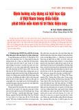 Định hướng xây dựng xã hội học tập ở Việt Nam trong điều kiện phát triển nền kinh tế tri thức hiện nay  - ThS. Trần Hồng Đức