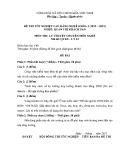 Đề thi tốt nghiệp cao đẳng nghề khóa 5 (2012-2015) - Nghề: Quản trị khách sạn - Môn thi: Lý thuyết chuyên môn nghề - Mã đề thi: QTKS-LT24