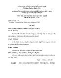 Đề thi tốt nghiệp cao đẳng nghề khóa 5 (2012-2015) - Nghề: Quản trị khách sạn - Môn thi: Lý thuyết chuyên môn nghề - Mã đề thi: QTKS-LT27