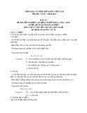 Đáp án đề thi tốt nghiệp cao đẳng nghề khóa 5 (2012-2015) - Nghề: Kế toán doanh nghiệp - Môn thi: Lý thuyết chuyên môn nghề - Mã đề thi: ĐA KTDN-LT02