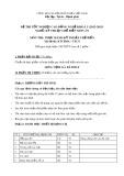 Đề thi tốt nghiệp cao đẳng nghề khóa 5 (2012-2015) - Nghề: Kỹ thuật chế biến món ăn - Môn thi: Thực hành kỹ thuật chế biến - Mã đề thi: KTCBMA-TH31