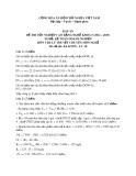 Đáp án đề thi tốt nghiệp cao đẳng nghề khóa 5 (2012-2015) - Nghề: Kế toán doanh nghiệp - Môn thi: Lý thuyết chuyên môn nghề - Mã đề thi: ĐA KTDN-LT38