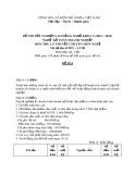 Đề thi tốt nghiệp cao đẳng nghề khoá 5 (2012-2015) - Nghề: Kế toán doanh nghiệp - Môn thi: Lý thuyết chuyên môn nghề - Mã đề thi: KTDN-LT08