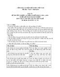 Đáp án đề thi tốt nghiệp cao đẳng nghề khóa 5 (2012-2015) - Nghề: Kế toán doanh nghiệp - Môn thi: Lý thuyết chuyên môn nghề - Mã đề thi: ĐA KTDN-LT28