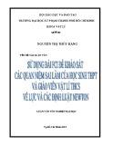 Luận văn Sư phạm Vật lí: Sử dụng bài FCI để khảo sát các quan niệm sai lầm của học sinh THPT và giáo viên Vật lí THCS về lực và các định luật Newton