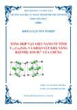 Khóa luận tốt nghiệp Hóa học: Tổng hợp vật liệu Nano từ tính Y1-xCaxFeO3 và khảo sát khả năng hấp phụ Ion Pb2+ của chúng