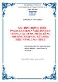 Khóa luận tốt nghiệp Hóa học: Xác định đồng thời Paracetamol và Ibuprofen trong các dược phẩm bằng phương pháp sắc ký lỏng hiệu năng cao HPLC