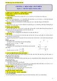 Chuyên đề Chương 1: Động học chất điểm