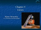 Lecture Programming principles and practice using C++: Chapter 5 - Bjarne Stroustrup