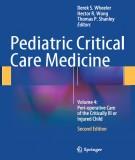 Ebook Pediatric critical care medicine (Volume 4: Peri-operative care of the critically ill or injured child - 2nd edition): Part 1