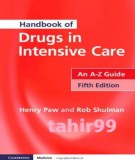 Ebook Handbook of drugs in intensive care - An A-Z guide (5th edition): Part 1