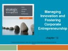 Lecture Strategic management (7/e): Chapter 12 - Dess, Lumpkin, Eisner, McNamara