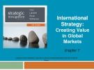 Lecture Strategic management (7/e): Chapter 7 - Dess, Lumpkin, Eisner, McNamara