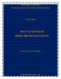 Luận văn Thạc sĩ Văn học: Nhân vật bất hạnh trong truyện ngắn Lỗ Tấn