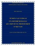 Luận văn Thạc sĩ Khoa học Ngữ văn: Về nhân vật cuồng si của Honoré De Balzac qua một số tác phẩm đã dịch ở Việt Nam