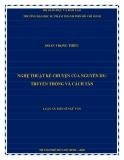 Luận án Tiến sĩ Ngữ văn: Nghệ thuật kể chuyện của Nguyễn Du - Truyền thống và cách tân