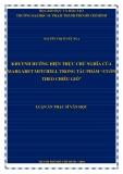 """Luận án Thạc sĩ Văn học: Khuynh hướng hiện thực chủ nghĩa của Margaret Mitchell trong tác phẩm """"Cuốn theo chiều gió"""""""