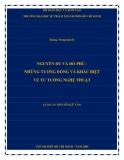 Luận án Tiến sĩ Ngữ văn: Nguyễn Du và Đỗ Phủ - Những tương đồng và khác biệt về tư tưởng nghệ thuật