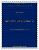 Luận văn Thạc sĩ Khoa học Ngữ văn: Triết lý nhân sinh trong Tây du ký
