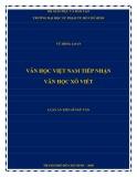 Luận án Tiến sĩ Ngữ văn: Văn học Việt Nam tiếp nhận Văn học Xô Viết