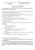 Ngân hàng câu hỏi của học phần Hệ thống chính sách pháp luật đất đai
