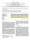 A three-dimensional macroporous Cu/SnO2 composite anode sheet prepared via a novel method