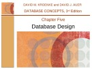 Lecture Database concepts (3rd Edition): Chapter 5 - David M. Kroenke, David J. Auer
