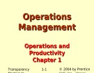 Lecture Operations management - Chapter 1: Operations and productivity