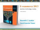 Lecture E-commerce 2013: Business, technology, society (9/e): Chapter 12 - Kenneth C. Laudon, Carol Guercio Traver