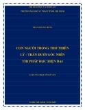 Luận văn Thạc sĩ Ngữ văn: Con người trong thơ thiền Lý   Trần dưới góc nhìn thi pháp học hiện đại