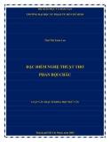 Luận văn Thạc sĩ Ngữ văn: Đặc điểm nghệ thuật thơ Phan Bội Châu