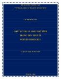 Luận án Thạc sĩ Ngữ văn: Chất sử thi và chất trữ tình trong tiểu thuyết Nguyễn Minh Châu