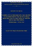 Luận văn Thạc sĩ Giáo dục học: Nghiên cứu sự phối hợp giữa nhà trường và gia đình trong việc quản lý hoạt động học tập của học sinh các trường trung học phổ thông tỉnh Bà Rịa – Vũng Tàu