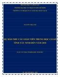 Luận văn Thạc sĩ Khoa học giáo dục: Dự báo nhu cầu giáo viên trung học cơ sở tỉnh Tây Ninh đến năm 2010