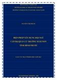 Luận văn Thạc sĩ Khoa học giáo dục: Biện pháp xây dựng đội ngũ cán bộ quản lý trường mầm non tỉnh Bình Phước