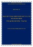 Luận văn Thạc sĩ Khoa học ngữ văn: Nhận xét về đặc điểm ngôn ngữ của văn bản hành chính (trên ngữ liệu tỉnh Bà Rịa - Vũng Tàu)