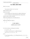 Bài tập trong môn Đại số tuyến tính
