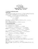Chuyên đề Đồng dư thức môn Số học lớp 6