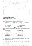 Đề kiểm tra cuối học kì 1 năm học 2015 - 2016 môn: Tin học Lớp 3