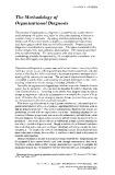 The methodology of organizational diagnosis